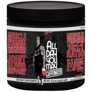Rich Piana 5% Nutrition All Day You May Caffeinated