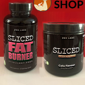 ZKK SLICED FAT BURNER POWDER & TABLET FAT BURNER BUNDLE