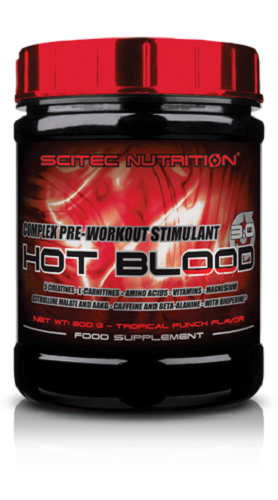 scitec nutrition hot blood 3.0 - 300g